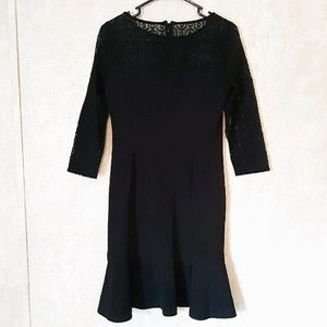 Nine West black lace cocktail dress size 6
